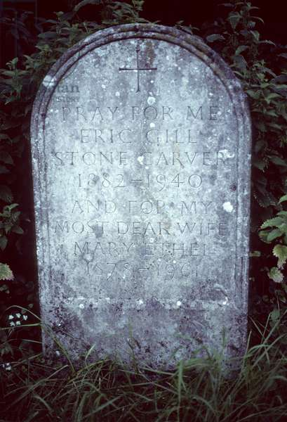 Grave of Eric Gill and his wife, Mary (photo)