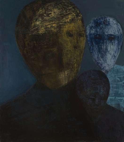 Child, Cupid, Sage, 2008 (oil on canvas)