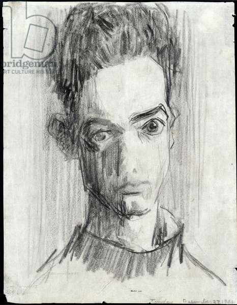 Utermohlen Self Portrait, 1955 (pencil on paper)