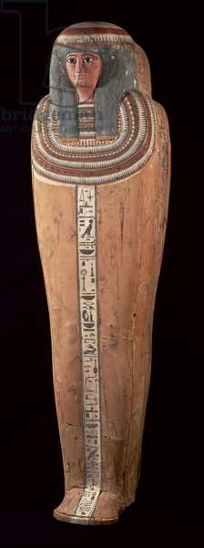 Coffin of Shepenmut, Priestess of Thebes, Third Intermediate Period, c.900 BC (painted wood)