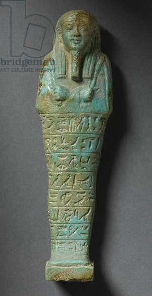 Shabti figure of Ptah-Meri (faience)