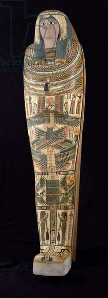 Cartonnage case of Shepenmut, Priestess of Thebes, Third Intermediate Period, c.900 BC (painted plaster)