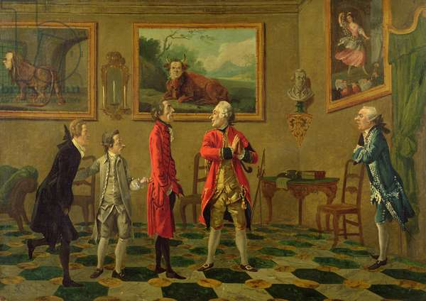 A Caricature Group in Florence, c.1765-66 (oil on canvas)