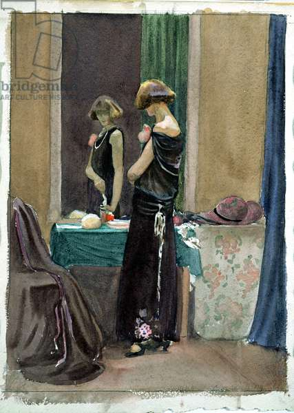 Costume Study, Regent Street model c. 1920  (w/c on paper)