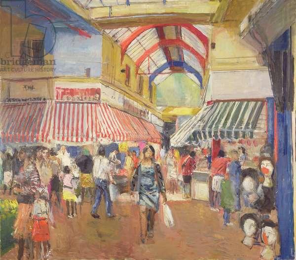 Brixton Market, 1993 (oil on canvas)