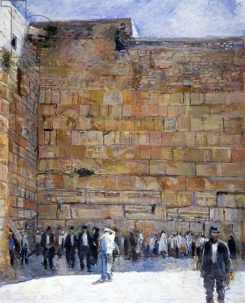 The Western Wall (oil on canvas)