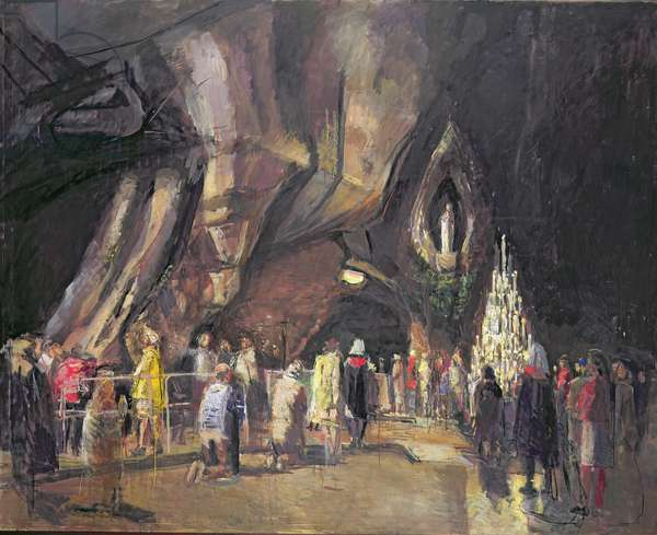 The Grotto, Lourdes, 1996-2001 (oil on canvas)