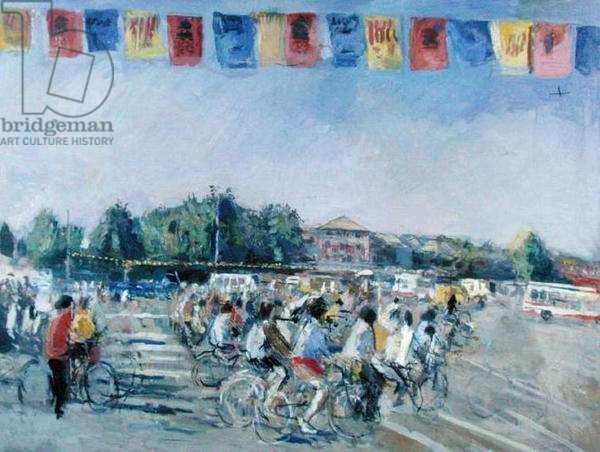 Beijing, Rush Hour (oil on canvas)