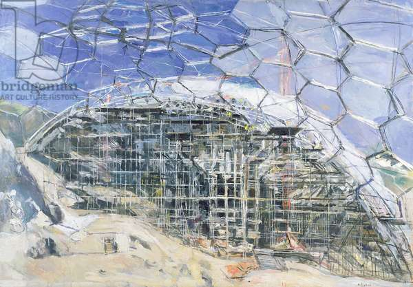 Scaffolding, Eden Project (oil on canvas)