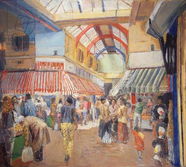 Brixton Market (oil on canvas)
