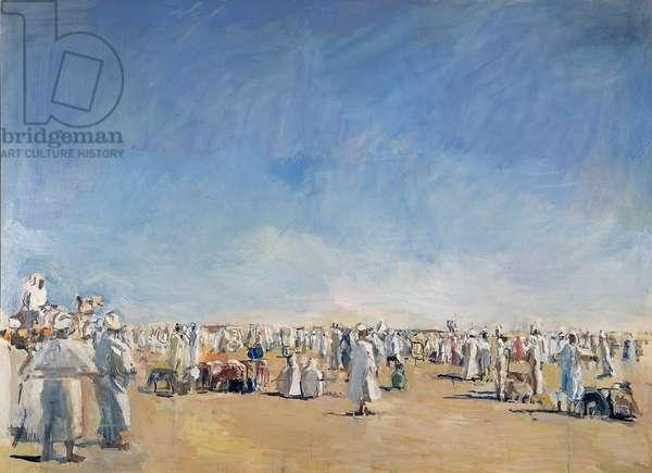 Desert Market, Omdurman, 1984 (oil on canvas)
