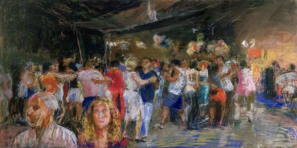 Dancers at St. Christopher's Bar, Rio (pastel on paper)
