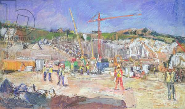 The Eden Project, Construction, November 1999 (pastel on paper)