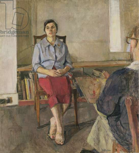Antoinetta and Euan Uglow (1932-2000) 1958 (oil on canvas)