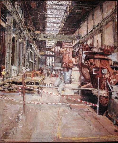 Bankside, The Turbine Hall (oil on canvas)