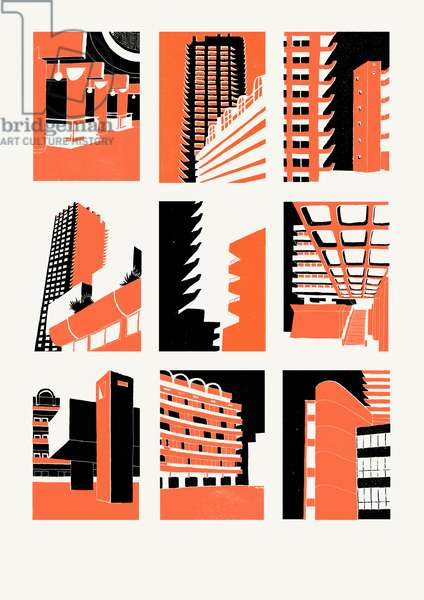 Barbican, 2014 (screenprint)