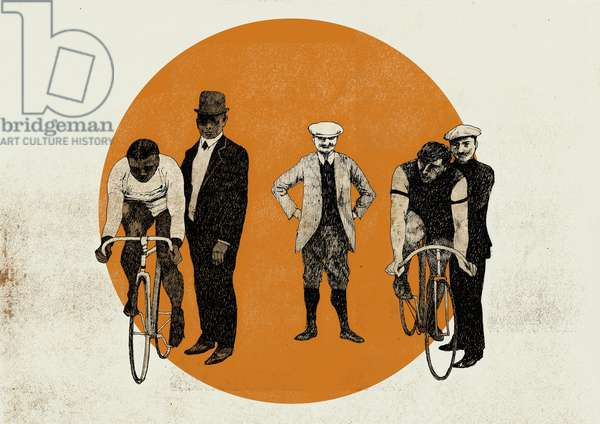 Old Time Trial, 2014 (screenprint)