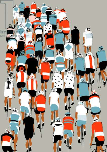 Peloton, 2013 (screen print)