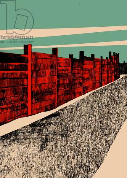 Jarrah Wall, 2014 (screenprint)