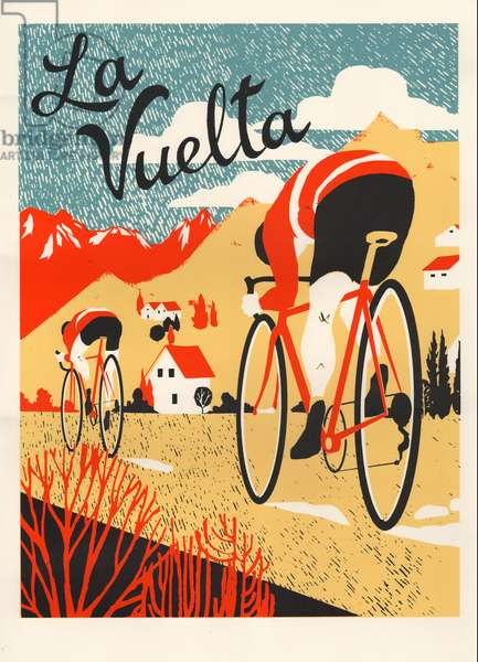 La Vuelta, 2015 (screenprint)