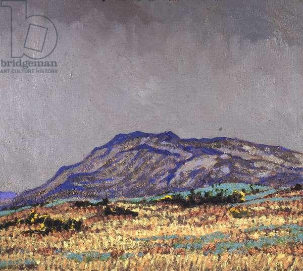 The Burren, Ireland (2) (oil on canvas)
