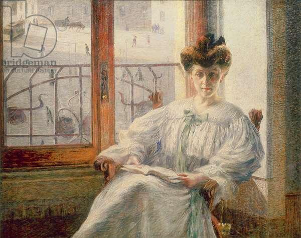 La Signora Massimino, 1908 (oil on canvas)