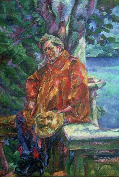Portrait of Ferruccio Busoni (1866-1924) 1916 (oil on canvas)