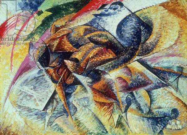 Dynamism of a Cyclist (Dinamismo di un ciclista) 1913 (oil on canvas)