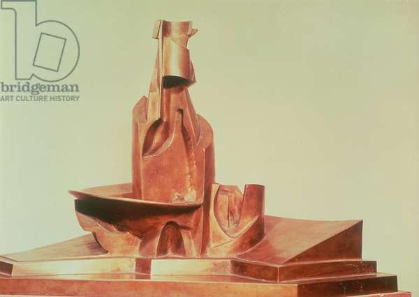 Development of a bottle in space, 1912 (bronze)
