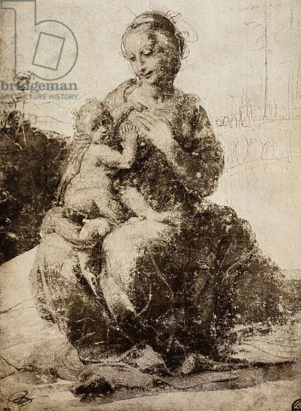 Madonna and Child; drawing by Raphael. The Louvre, Paris