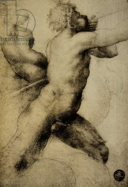 Triton and Nereid; drawing by Raphael. Gallerie dell'Accademia, Venice