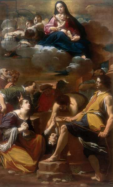 Miracle of Our Lady of Mount Carmel, work by Carlo Bononi, conserved at the Galleria Estense in Modena
