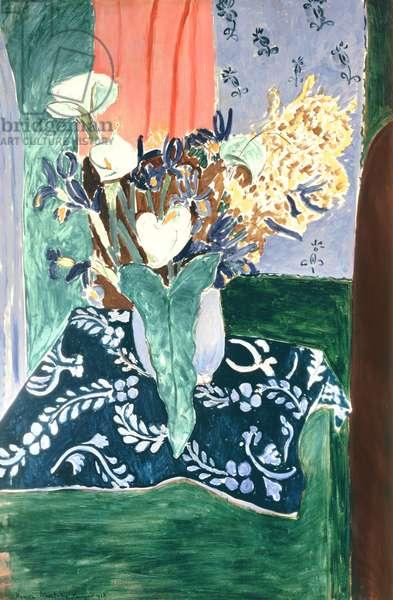 Calla Lilies, Irises and Mimosas, 1931