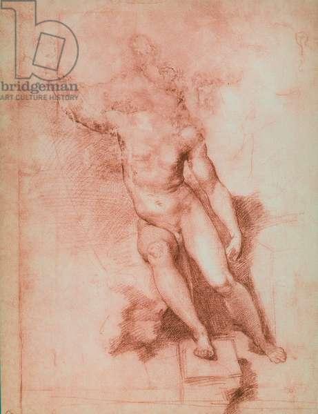 Study for a St. John the Baptist, drawing by Raffaello Sanzio. Gabinetto dei Disegni e delle Stampe, Uffizi Gallery, Florence