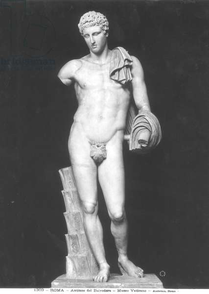 Hermes, called Antinous del Belvedere (marble) (b/w photo)