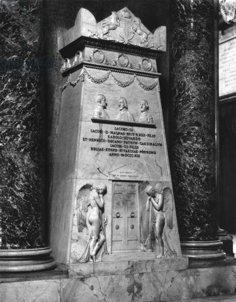 The Stuart Monument, 1817-19 (marble) (b/w photo)