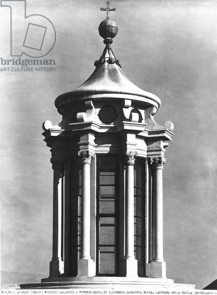The Lantern of the dome (b/w photo)