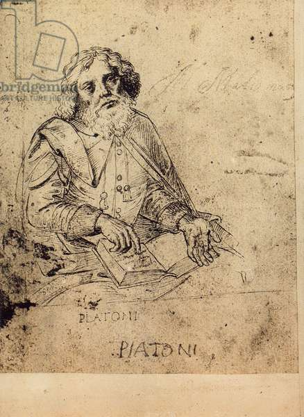 Portrait of Plato; drawing by Raphael. Gallerie dell'Accademia, Venice