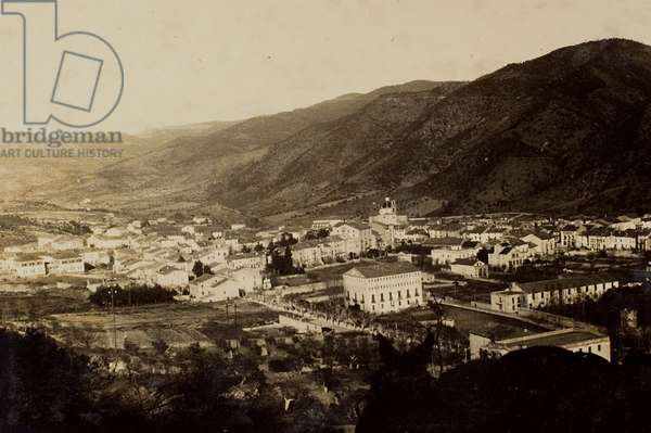 The Catalan town of Martorell during the Spanish Civil War (b/w photo)