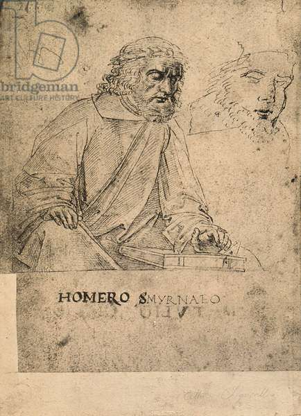 Homer; drawing by Raphael. Gallerie dell'Accademia, Venice