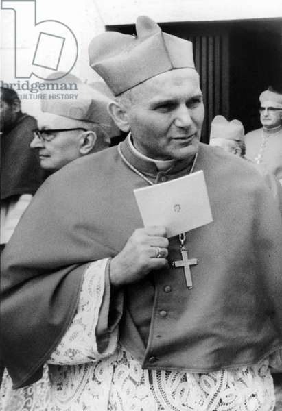 Cardinal Karol Wojtyla in Rome during the conclave for the election of a new Pope