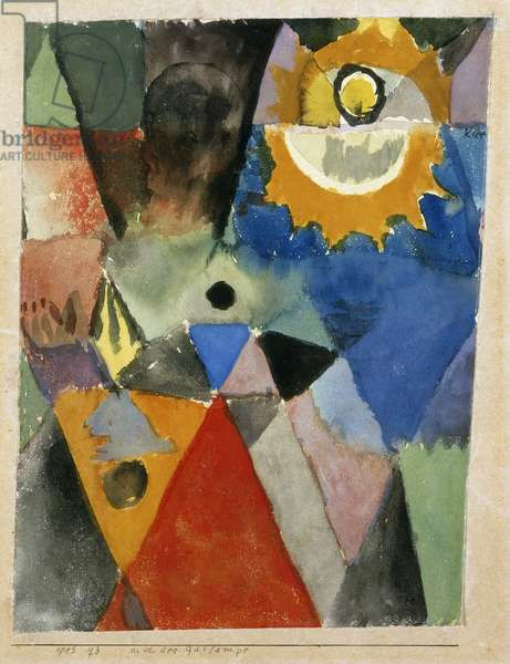 Before the gas lamp, by Paul Klee, Galleria Nazionale d'Arte Moderna, Rome
