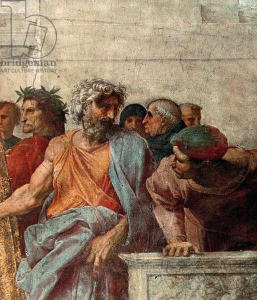 Disputa, from the Stanza della Segnatura, 1508-11 (fresco) (detail of 168791)