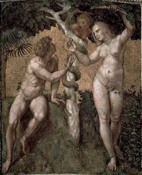 Adam and Eve, from the 'Stanza della Segnatura', c.1508-11 (fresco)