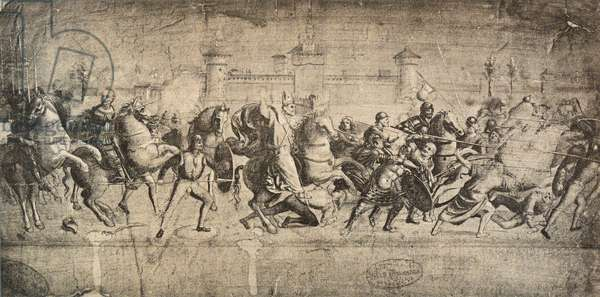 Cavaliers in combat; drawing by Raphael. Gallerie dell'Accademia, Venice