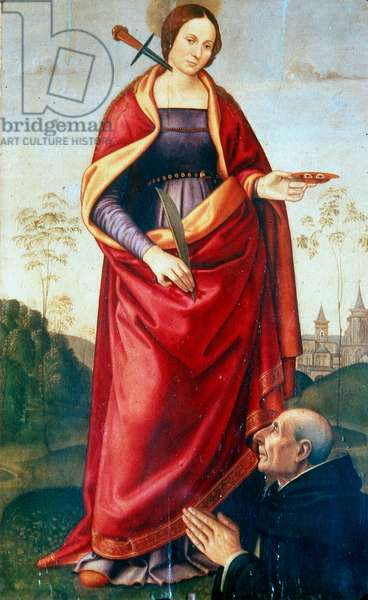 Saint Lucy and sponsor