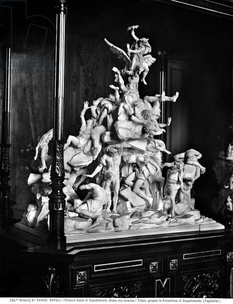 Jupiter striking the Titans with lightning, c.1800-12 (porcelain)