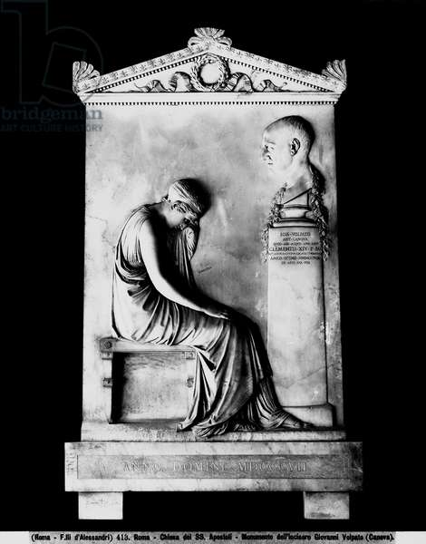 Funerary monument to Giovanni Volpato (1735-1803) 1807 (marble)