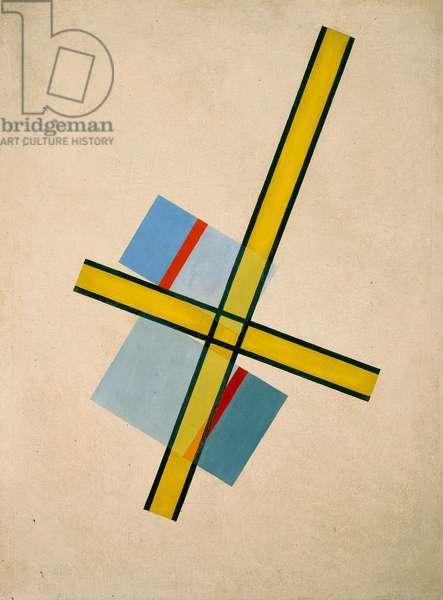 Yellow Cross, Q.7 (oil on canvas)