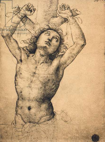 Saint Sebastian; drawing by Raphael, Gallerie dell'Accademia, Venice